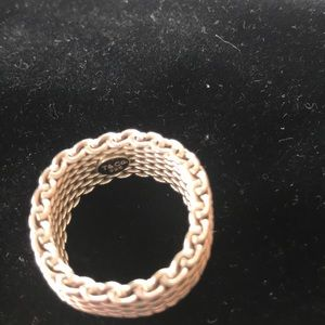 Tiffany & Co. Jewelry - Tiffany and co. 925 silver mesh Ring. Size 8.